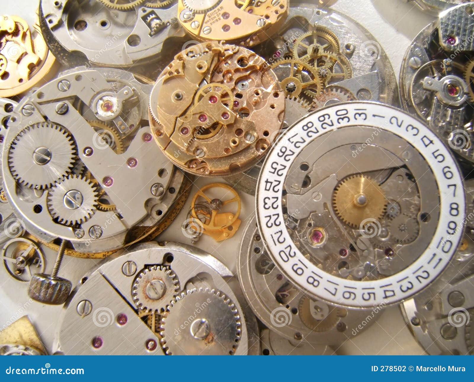 Fundo dos maquinismo de relojoaria