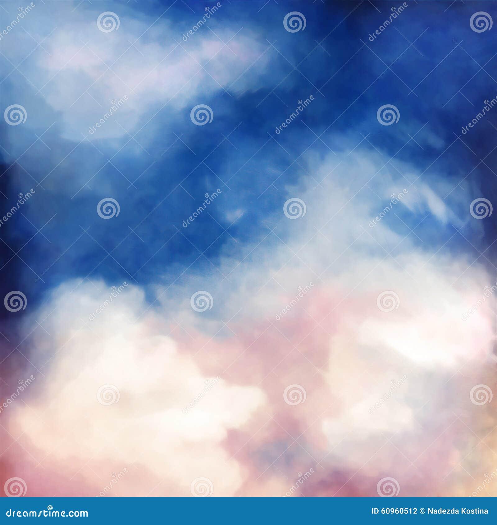 Fundo dramático da pintura do céu