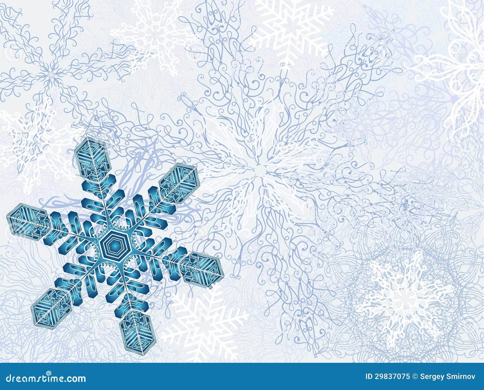 Fundo Dreamlike do inverno
