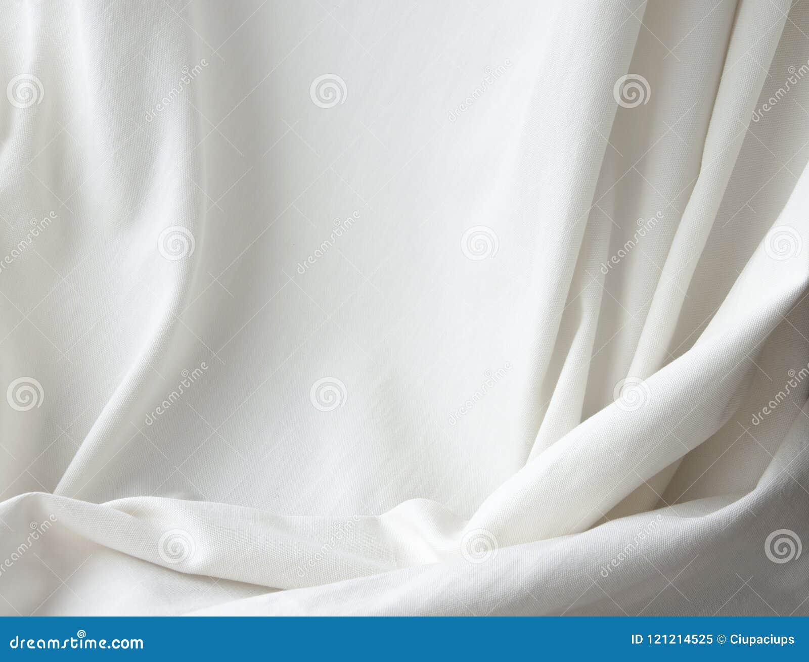 Fundo elegante branco da cortina da textura de pano da lona