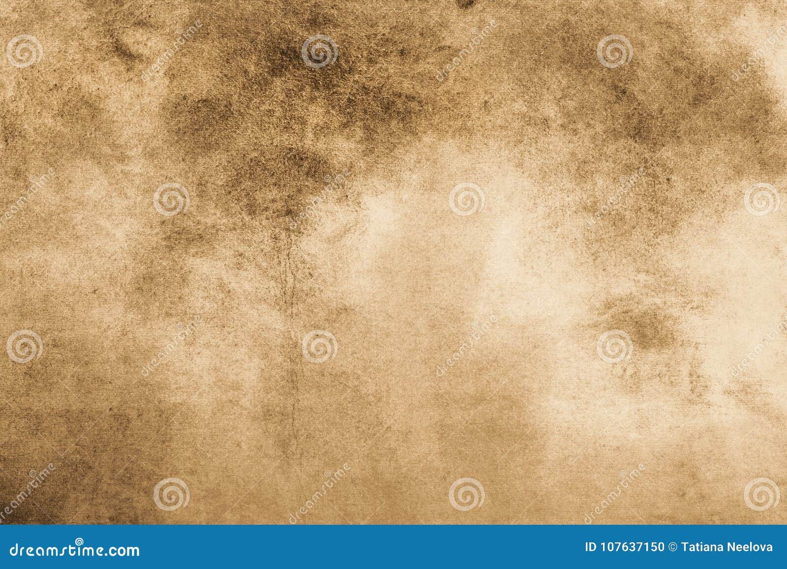 Fundo envelhecido do vintage do estilo antigo Stylization velho da ilustração da textura da foto em cores do sepia com manchas, m