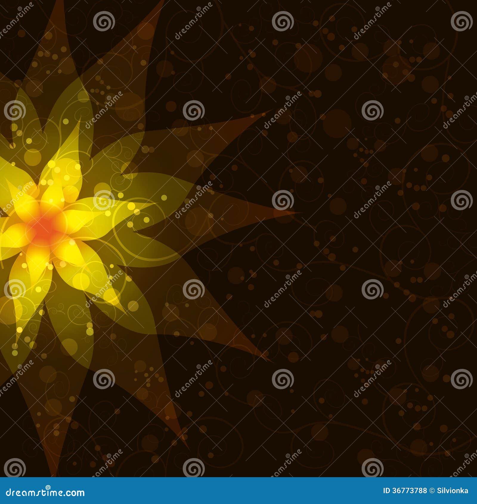 Fundo escuro abstrato floral, convite ou gre