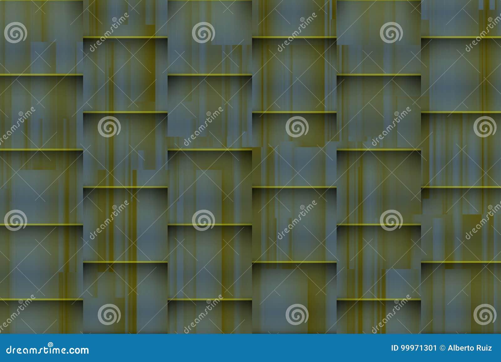 Fundo esverdeado distorcido com sombras 3d arquitetónicas