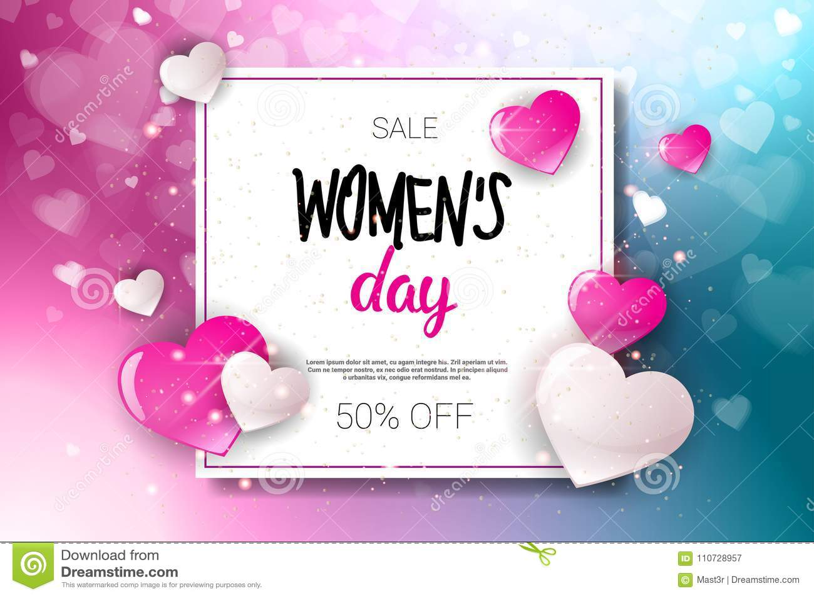 818db3dec Ilustração feliz do vetor do fundo do cartaz do disconto do projeto do vale  da promoção da compra do feriado da venda do dia da mulher