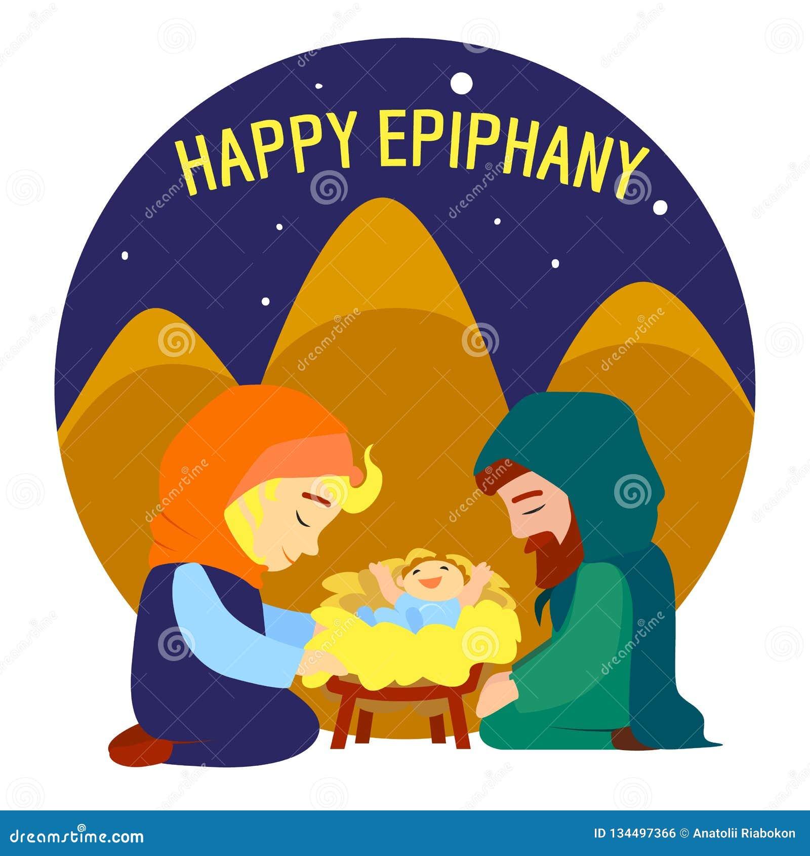 Fundo Feliz Do Conceito Do Nascimento De Jesus Do Esmagamento