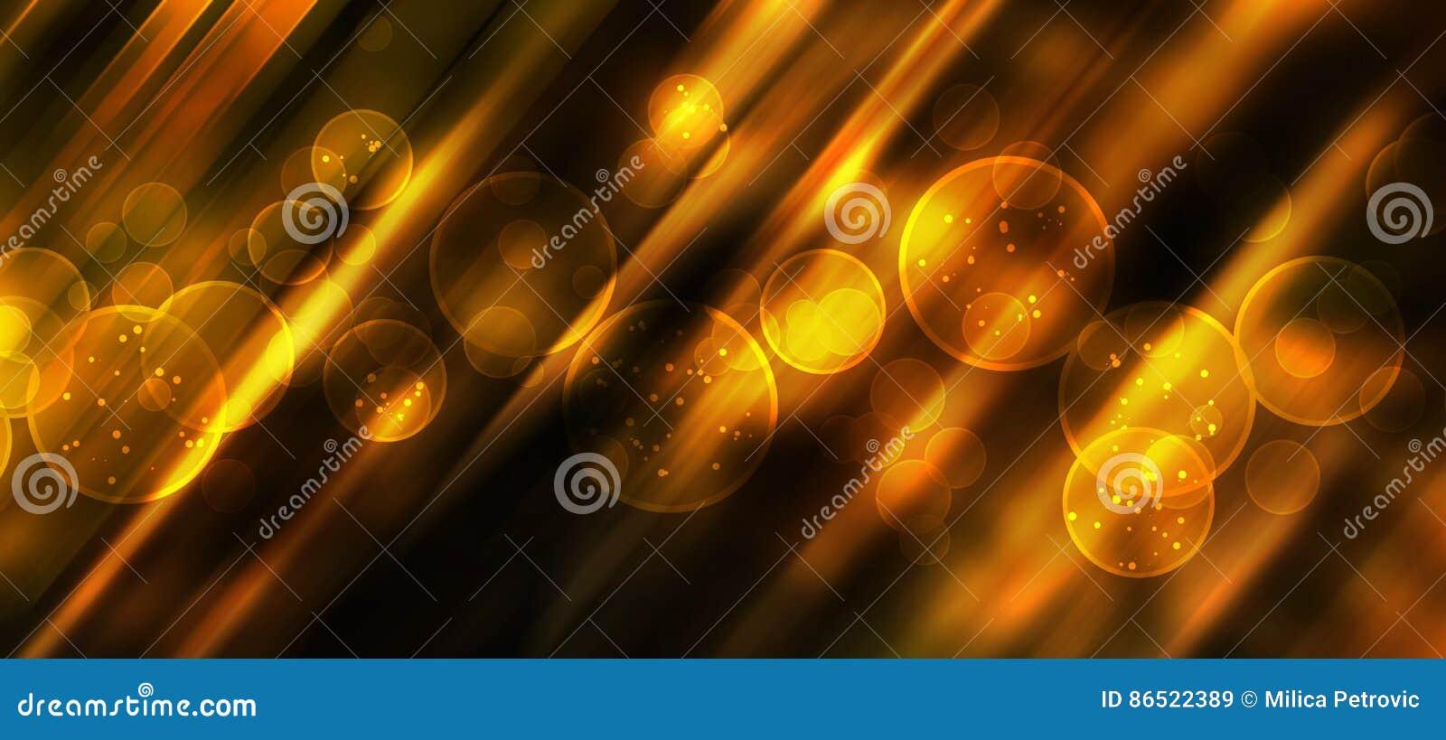 Fundo Festivo Com Bokeh Natural E Luzes Douradas Brilhantes Imagem