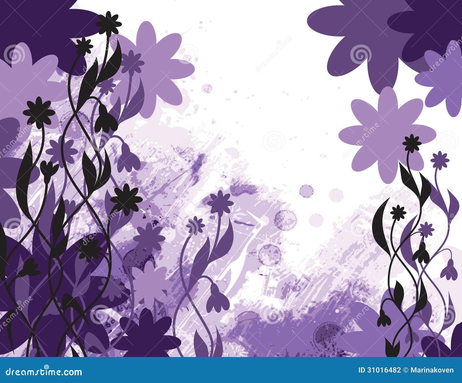 Fundo floral abstrato. Ilustração do vetor.