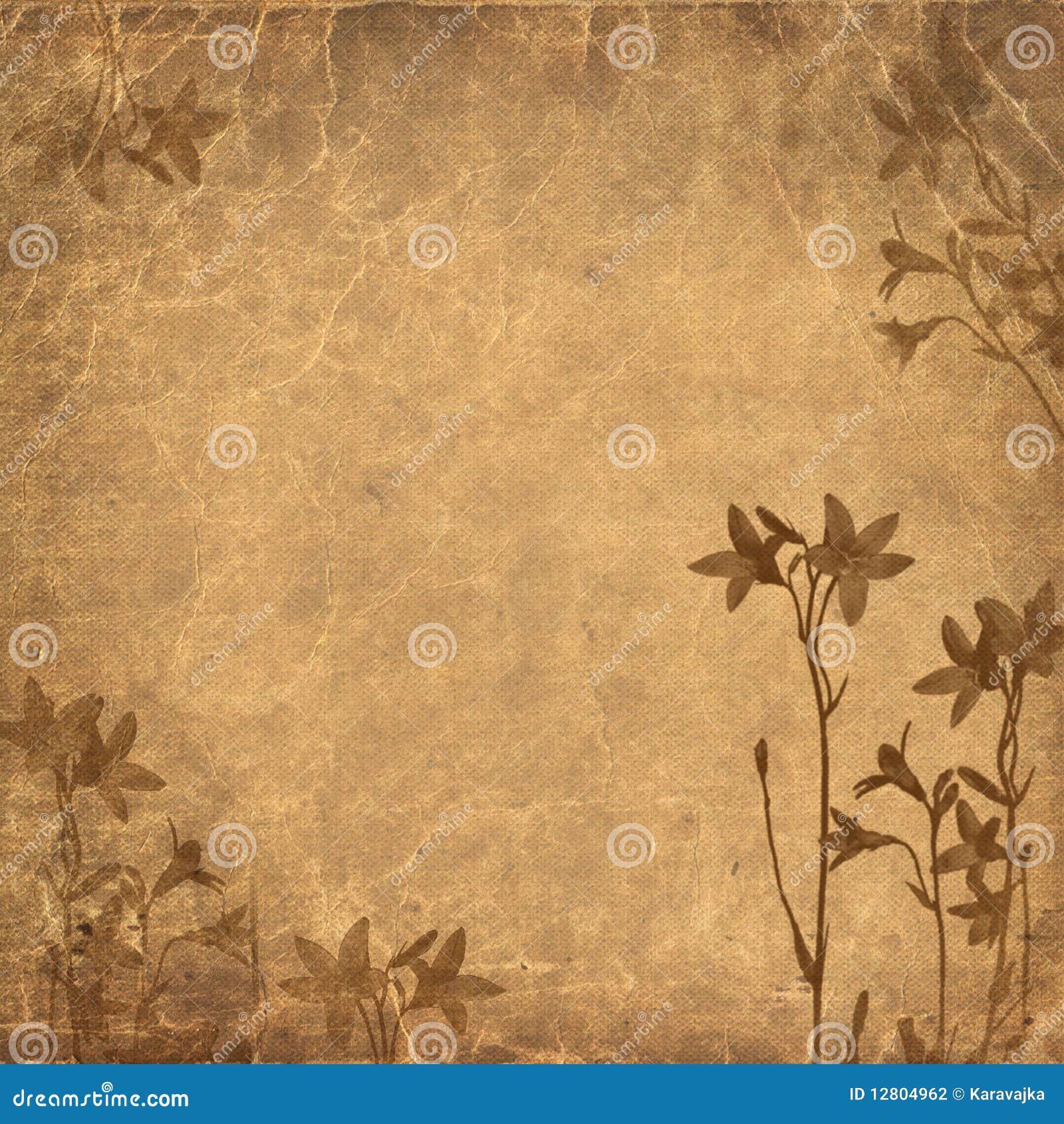 Fundo floral Brown de Grunge