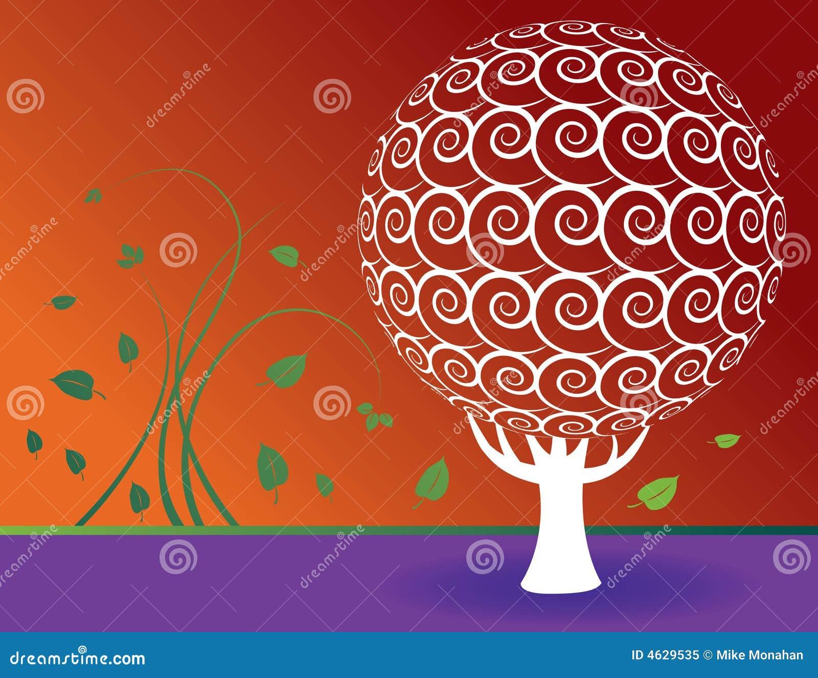 Fundo floral da árvore