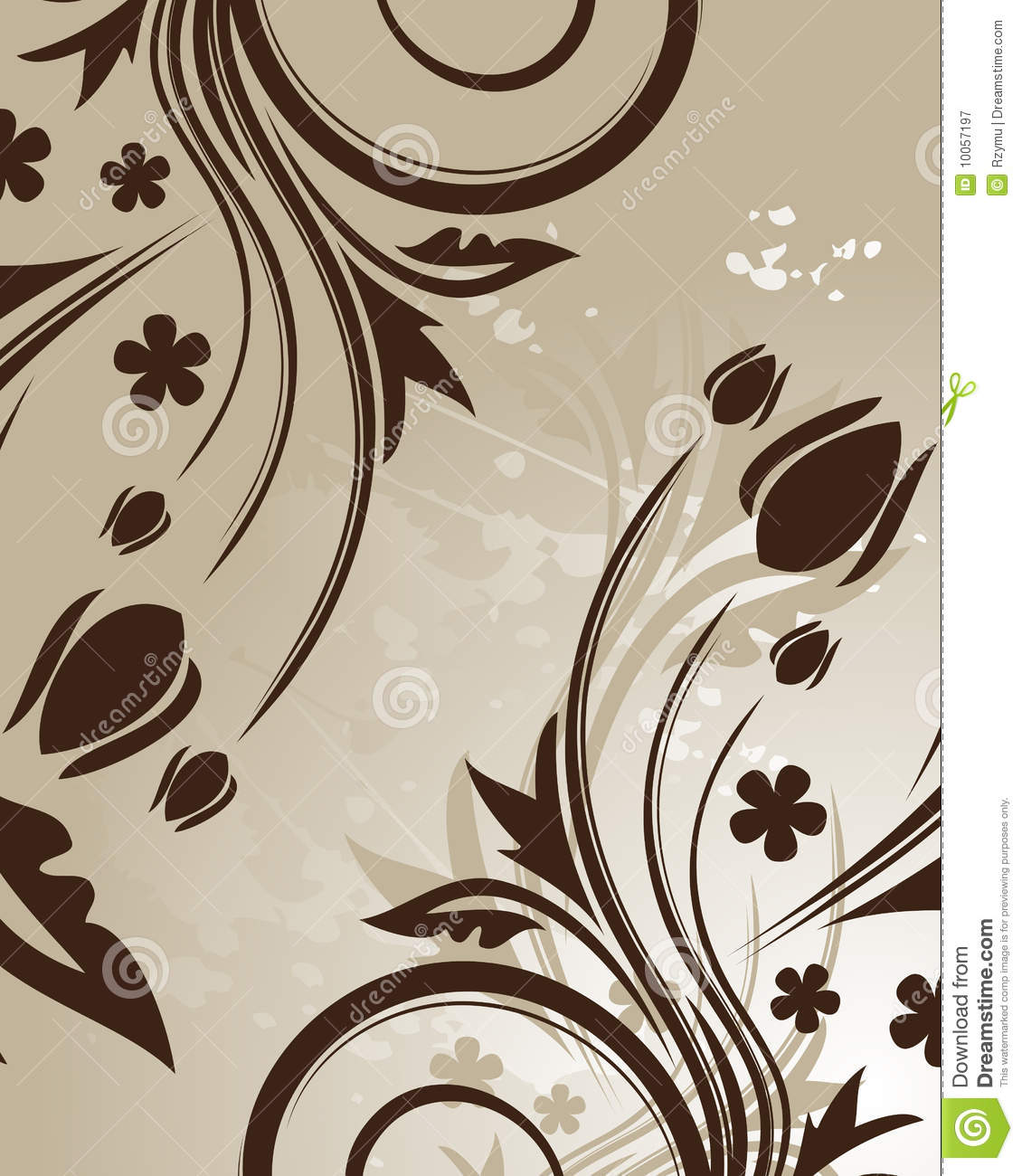 Fundo floral de Brown
