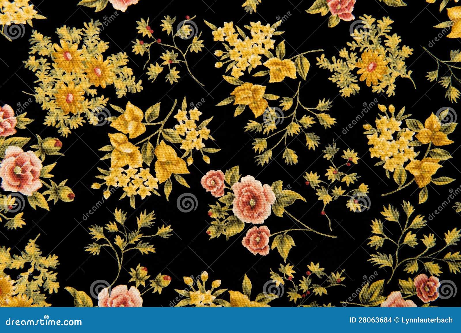Fundo floral do preto da tela