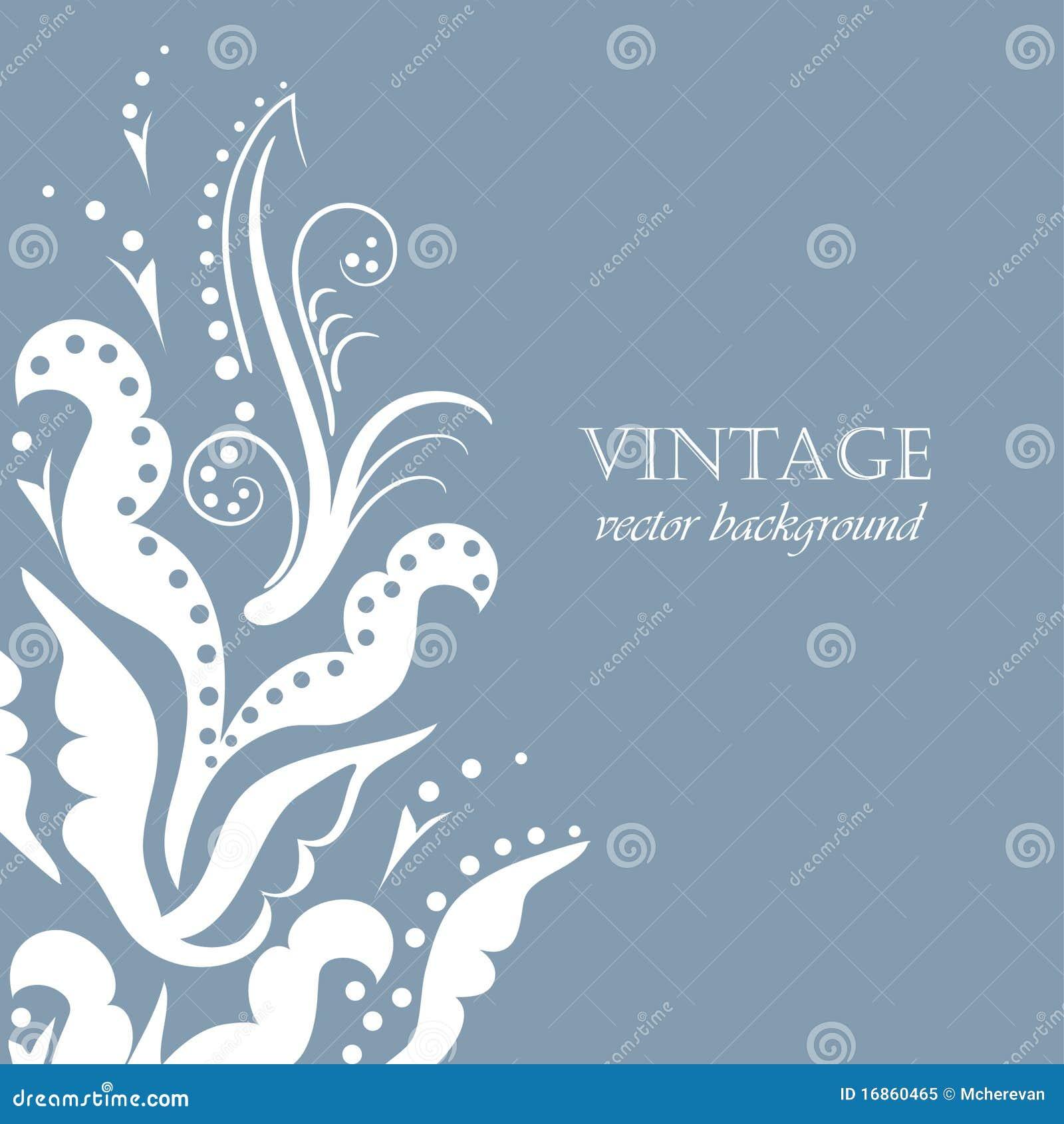 Fundo floral do vintage