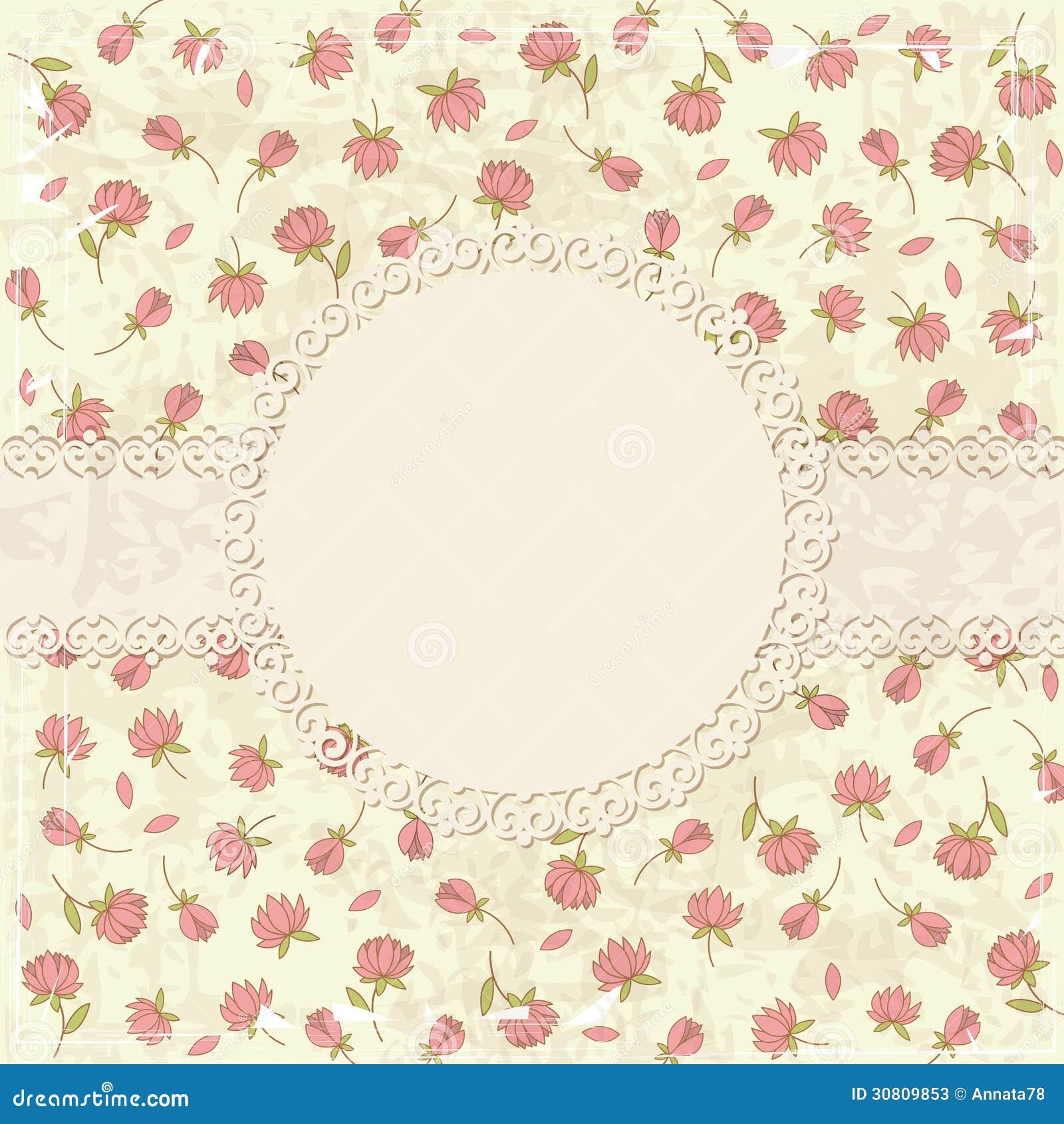 Fundo Floral Do Grunge Do Vintage Ilustracao Do Vetor Ilustracao