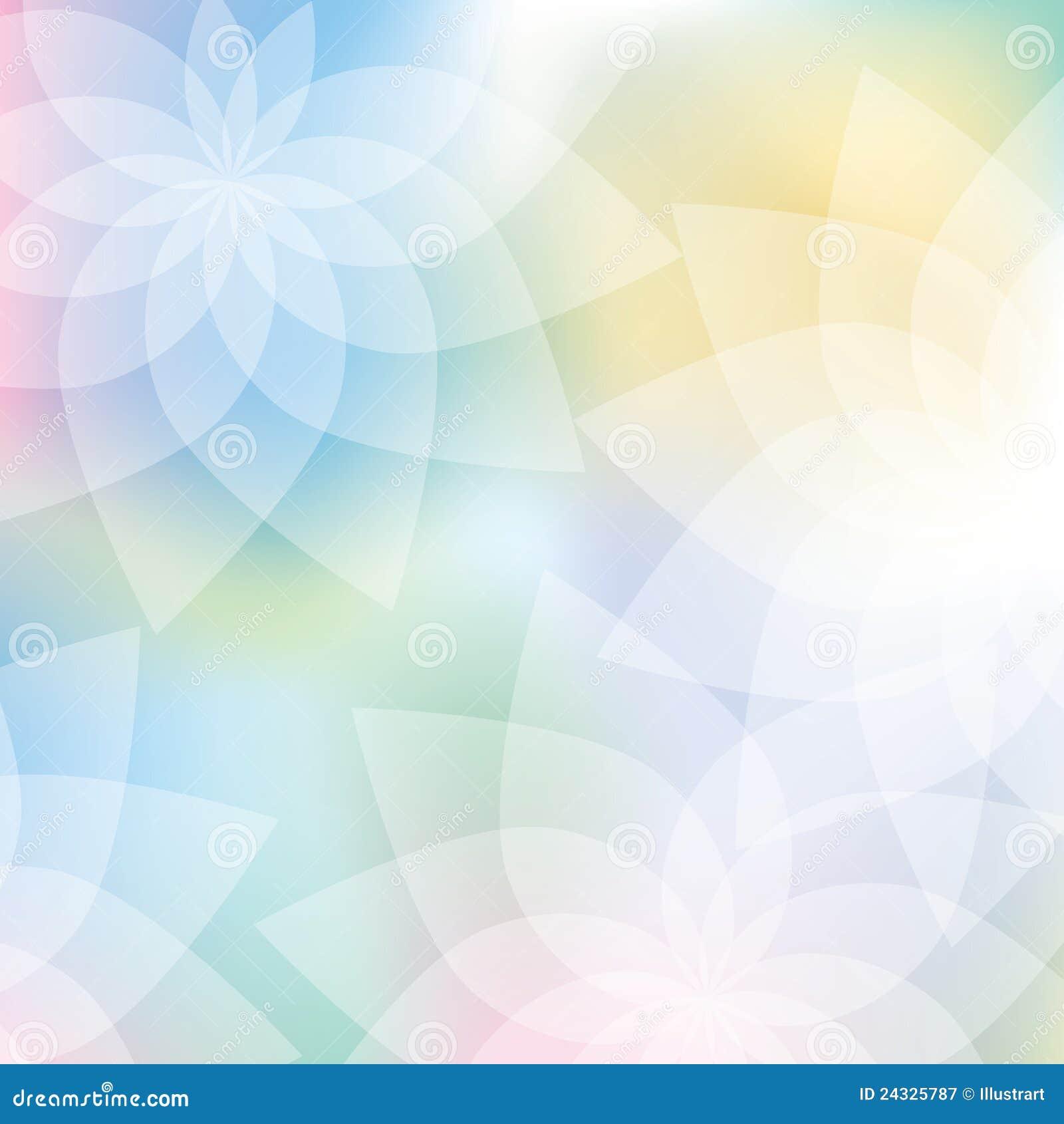 Fundo floral em cores pastel