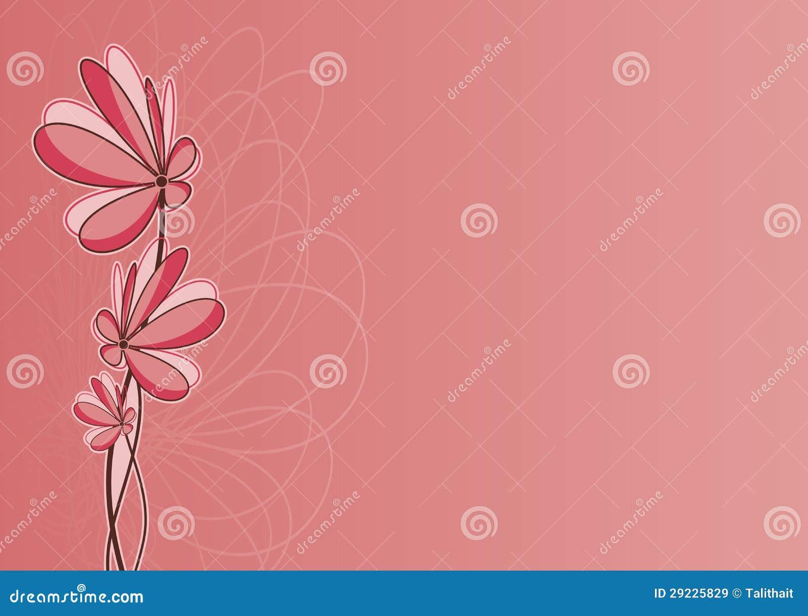 Download Fundo floral romântico ilustração do vetor. Ilustração de invitation - 29225829