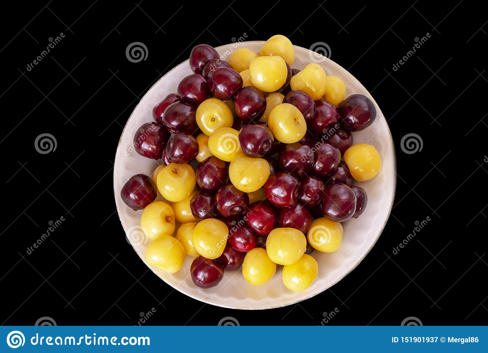 Fundo fresco da cereja Detalhe macro, cherryes isolados Fundo do alimento