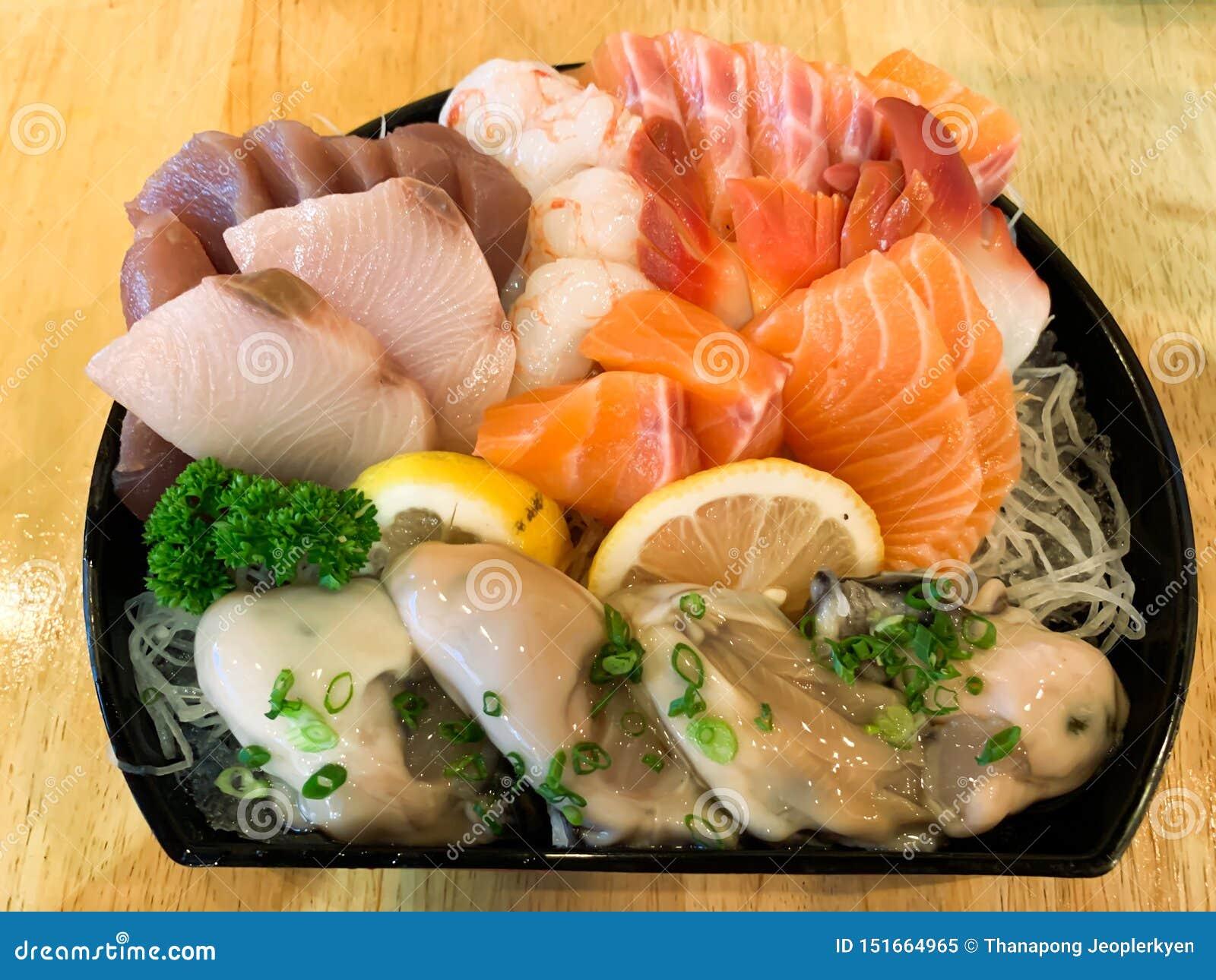 Fundo fresco japonês do marisco