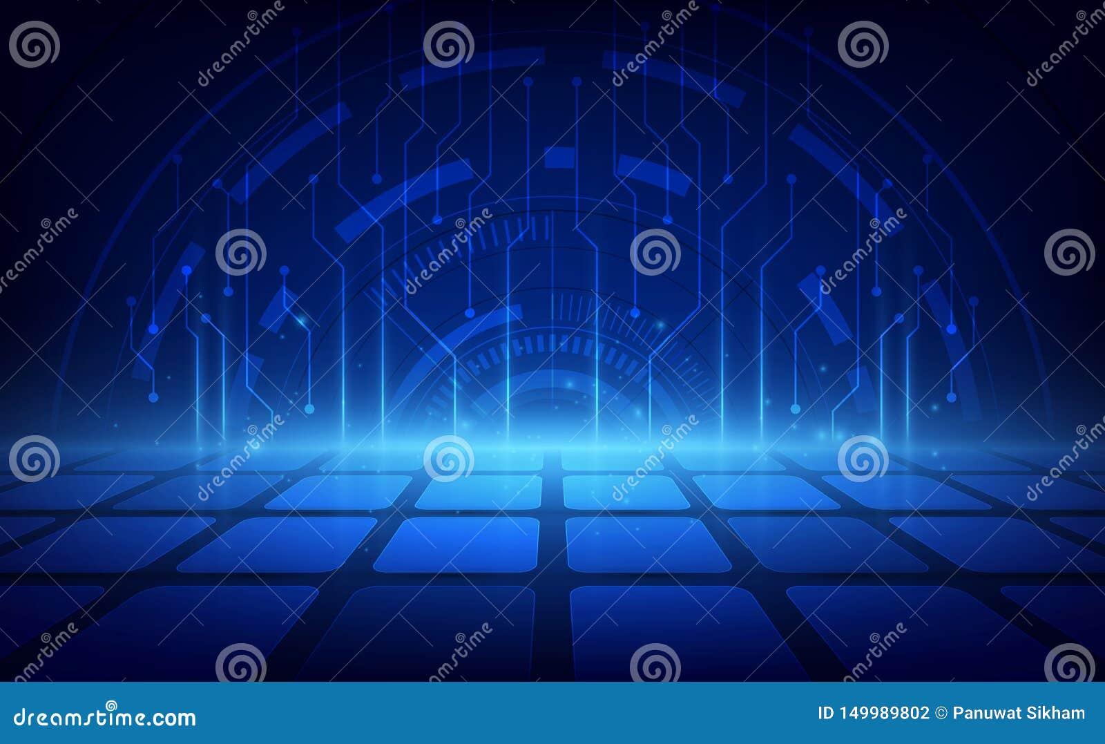 Fundo futurista abstrato da tecnologia digital Ilustra??o do vetor
