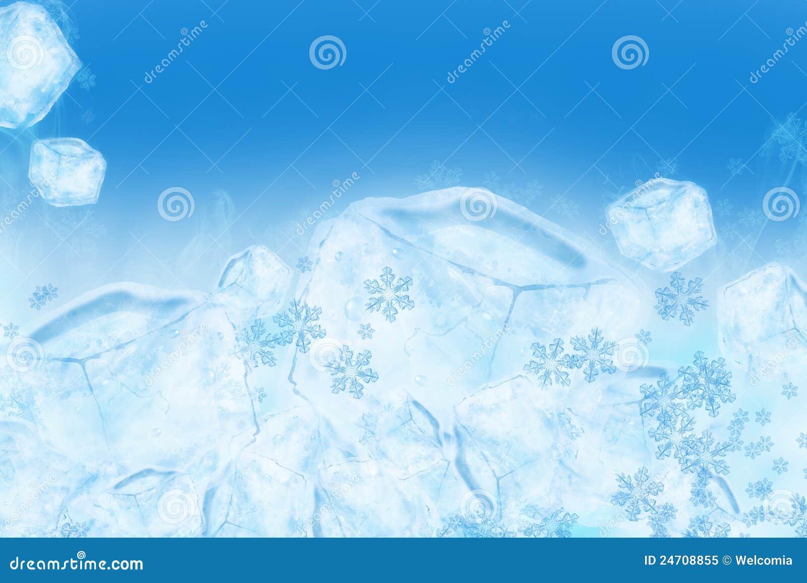 Fundo gelado do gelo