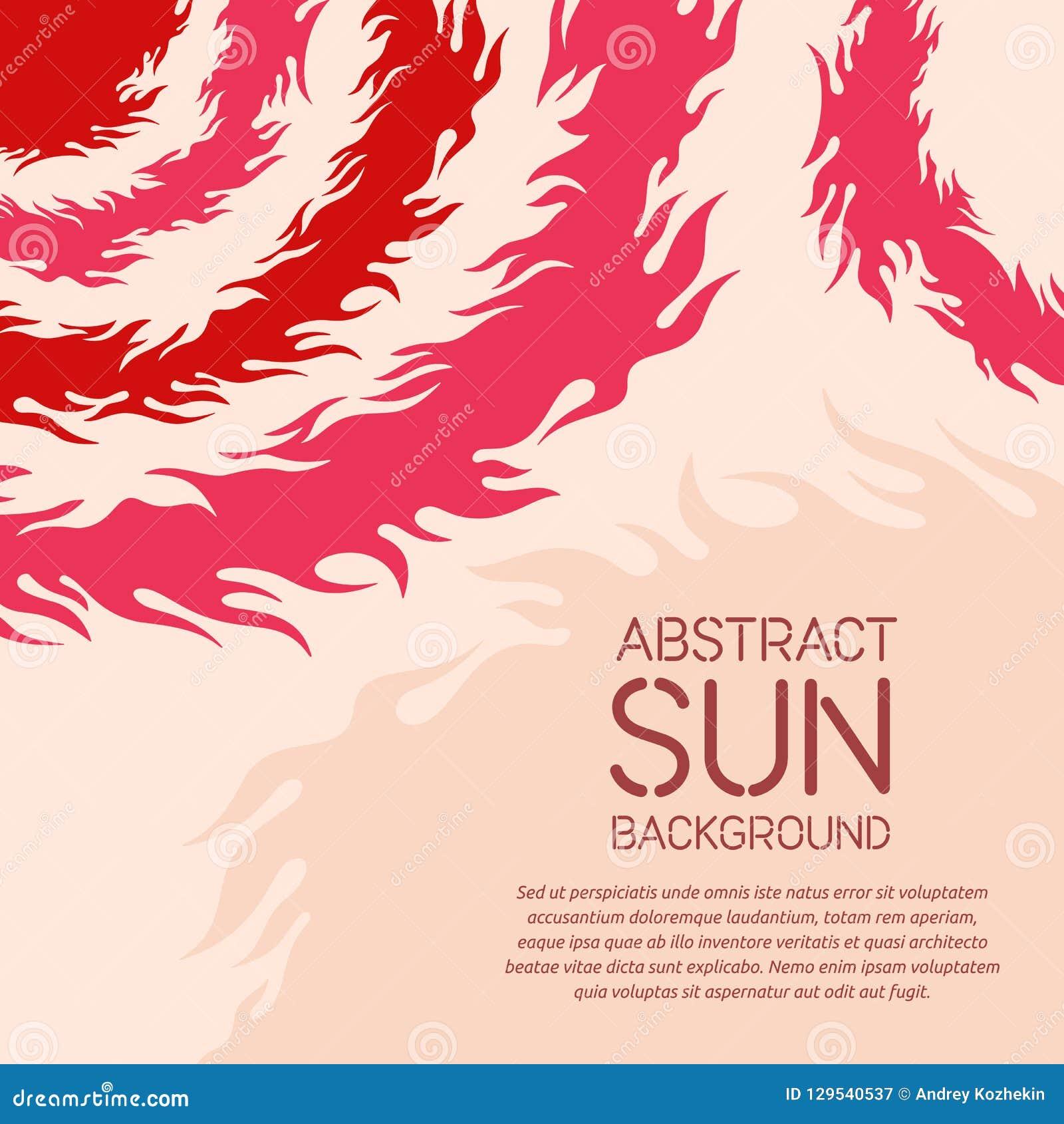Fundo geométrico abstrato com tema do sol