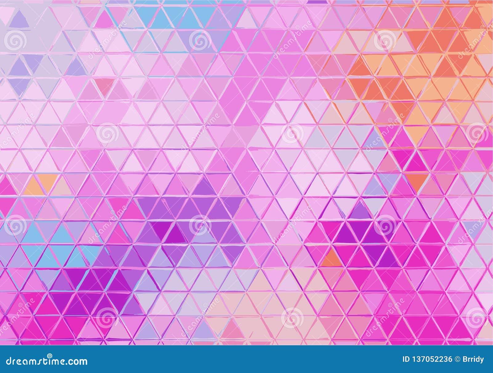 Fundo geométrico abstrato com triângulos coloridos Teste padrão com inclinação pastel Textura do vetor
