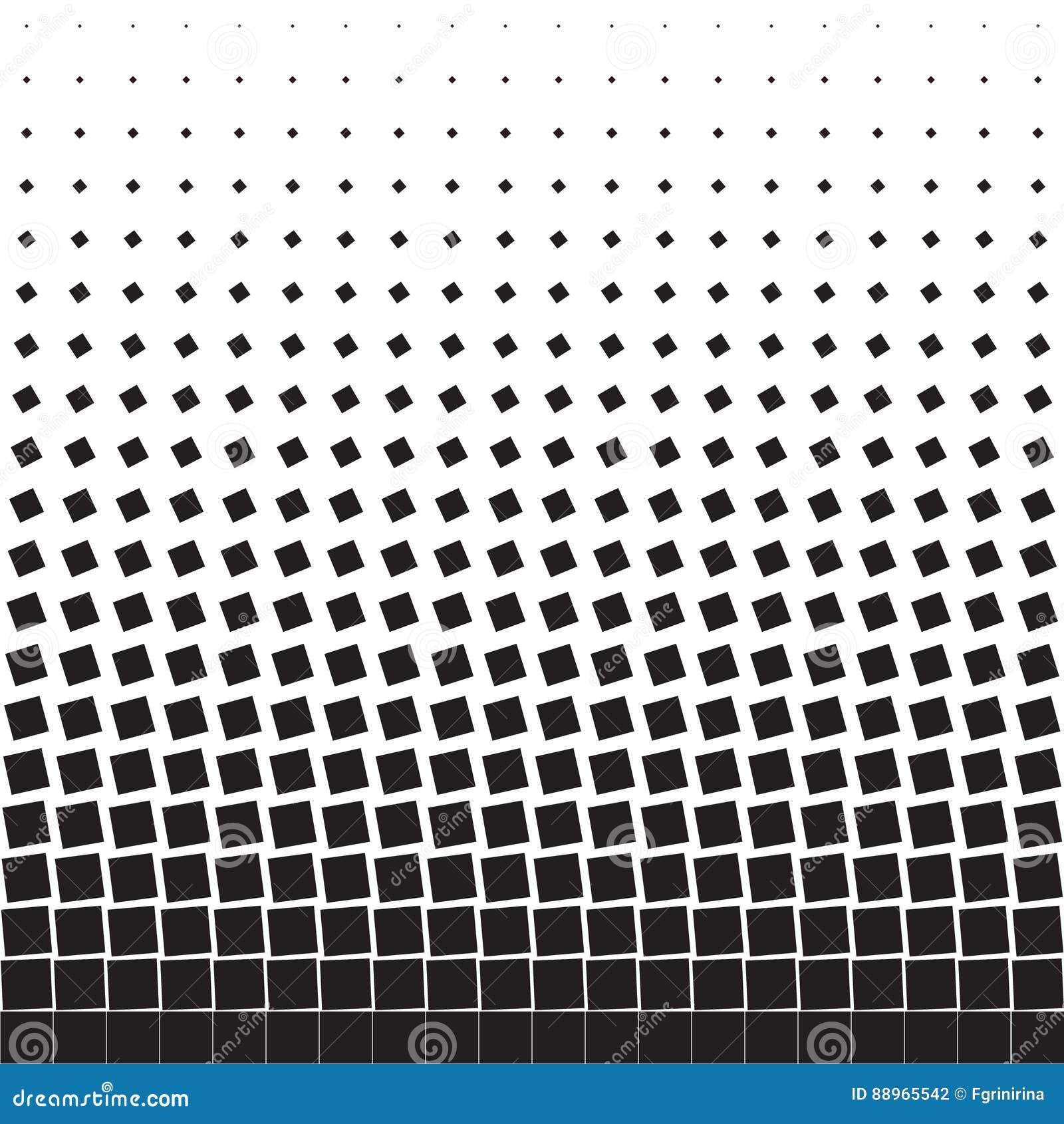 Fundo geométrico abstrato de quadrados de giro pretos