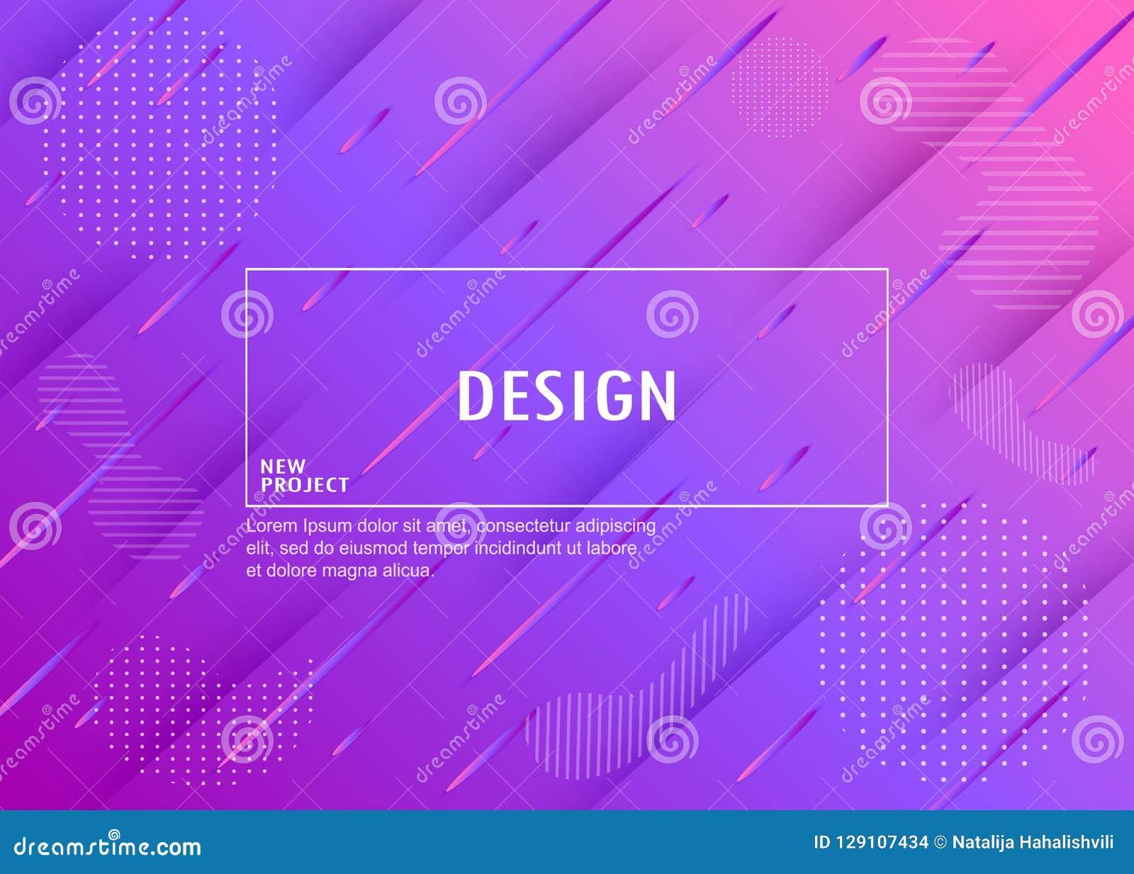 Fundo geométrico colorido Composição dinâmica das formas Vecto
