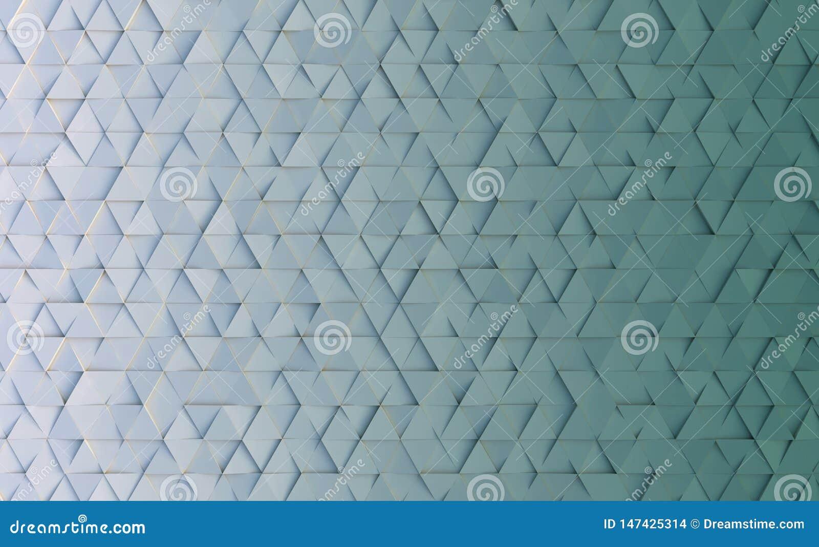 Fundo geométrico do estilo com triângulos rendi??o 3d