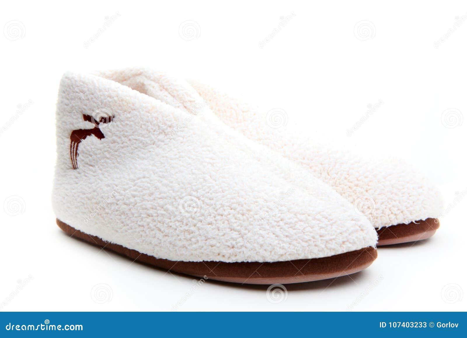 Fundo home do branco da sapata de lãs do inverno