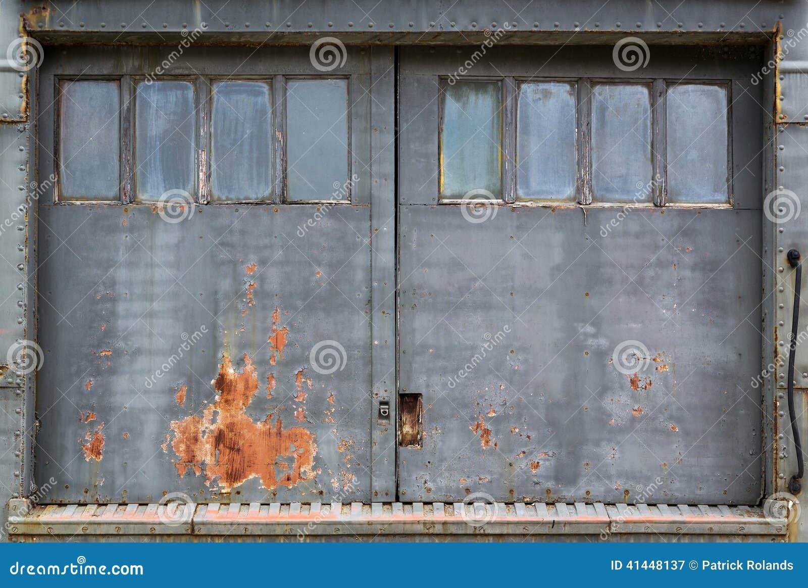 Fundo industrial da porta