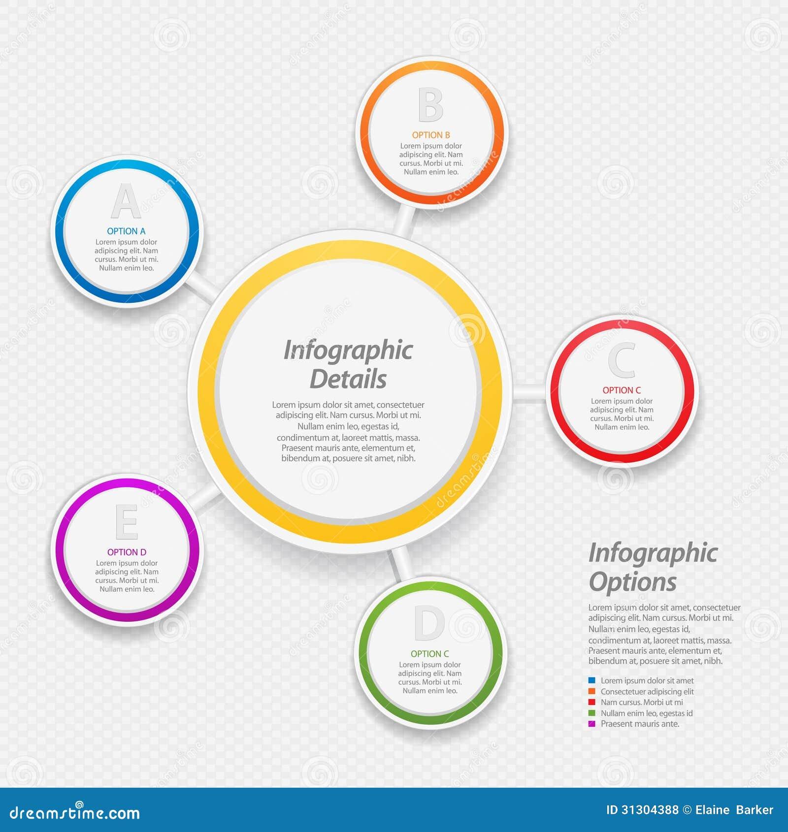 Fundo infographic colorido do círculo