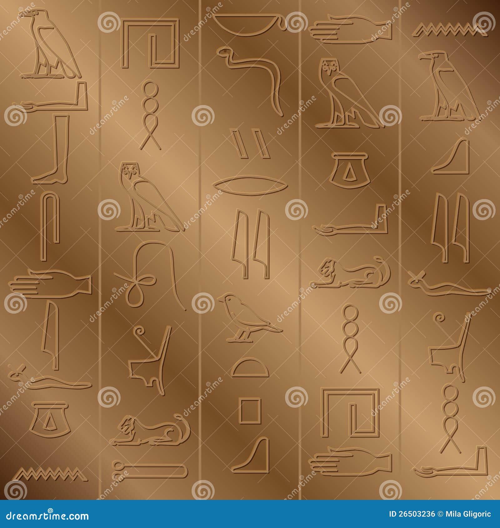 Fundo jeroglífico