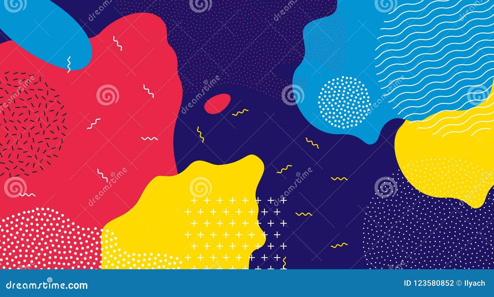 Fundo líquido do teste padrão da cor do pop art abstrato