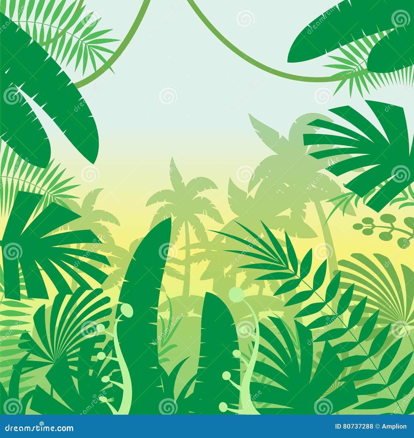 Fundo liso da selva