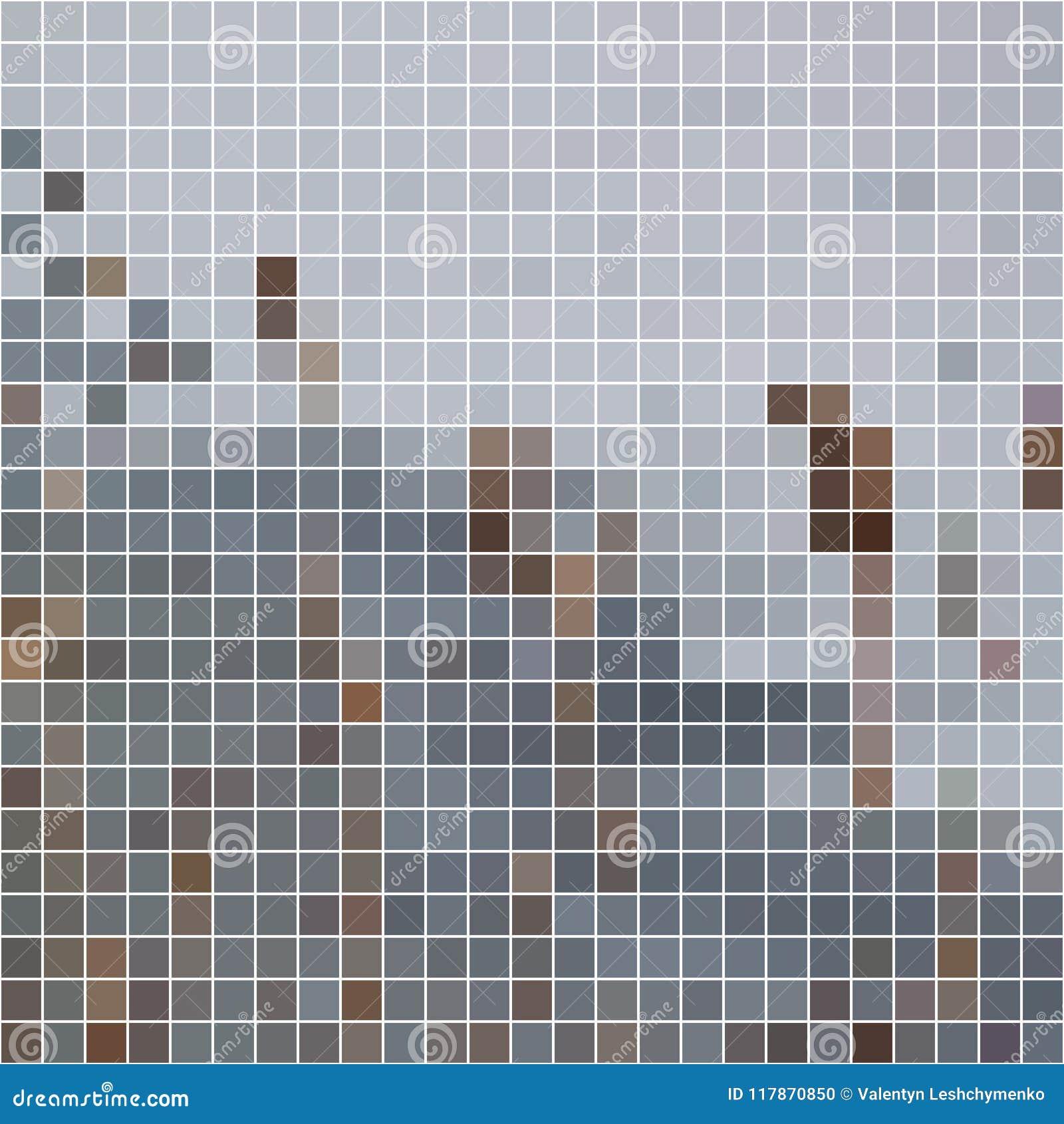 Fundo Luz-cinzento e escuro-cinzento do mosaico