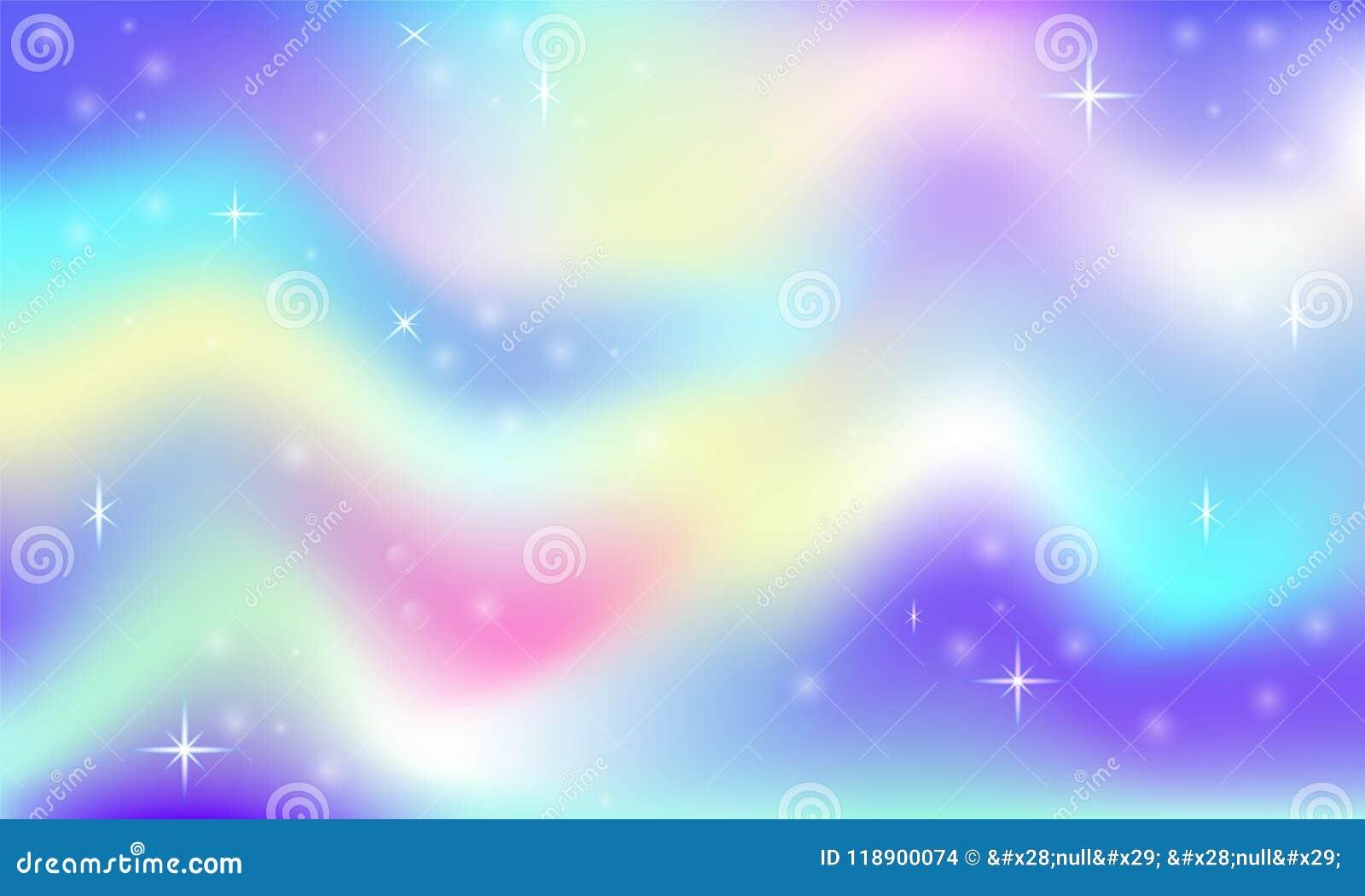 Fundo mágico do fulgor do espaço feericamente com malha do arco-íris Bandeira multicolorido do espaço do universo em cores da pri