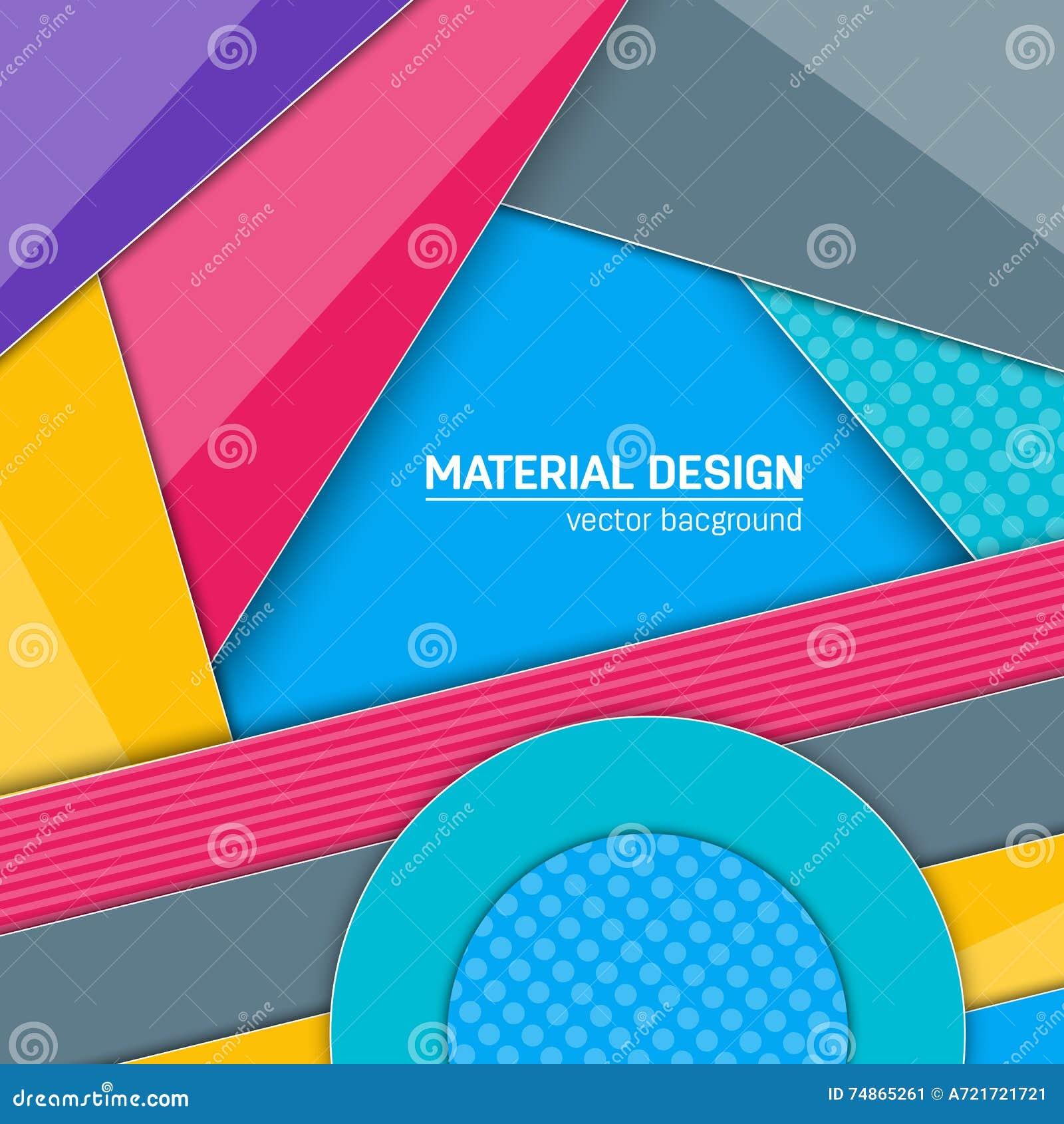 Fundo material do projeto do vetor Molde criativo abstrato da disposição do conceito Para a Web e o app móvel, arte de papel