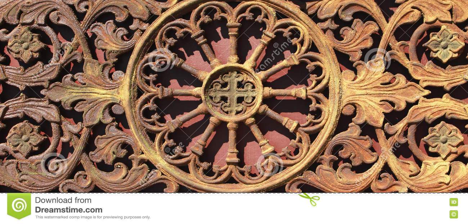 Fundo medieval da porta do vintage do metal & x28; fragment& x29;