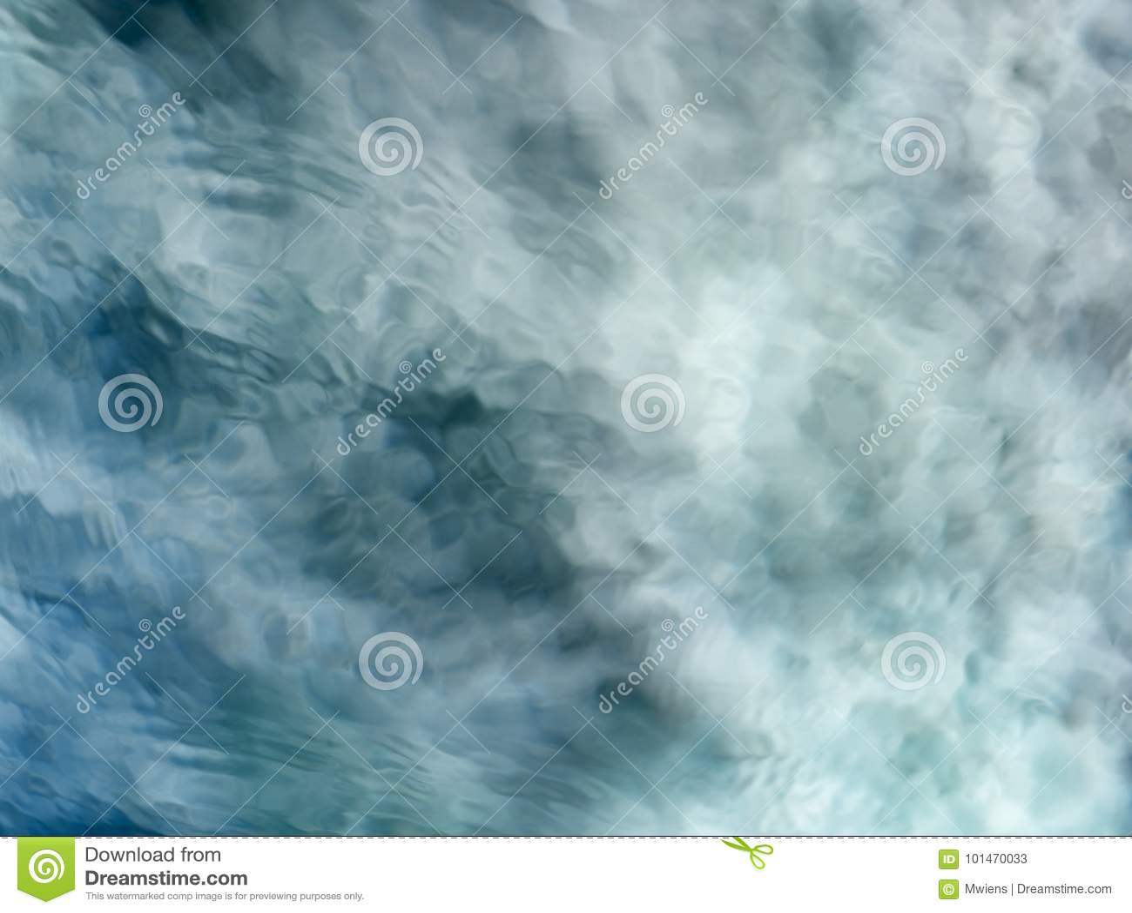 Fundo meditativo da água de fluxo do verde azul
