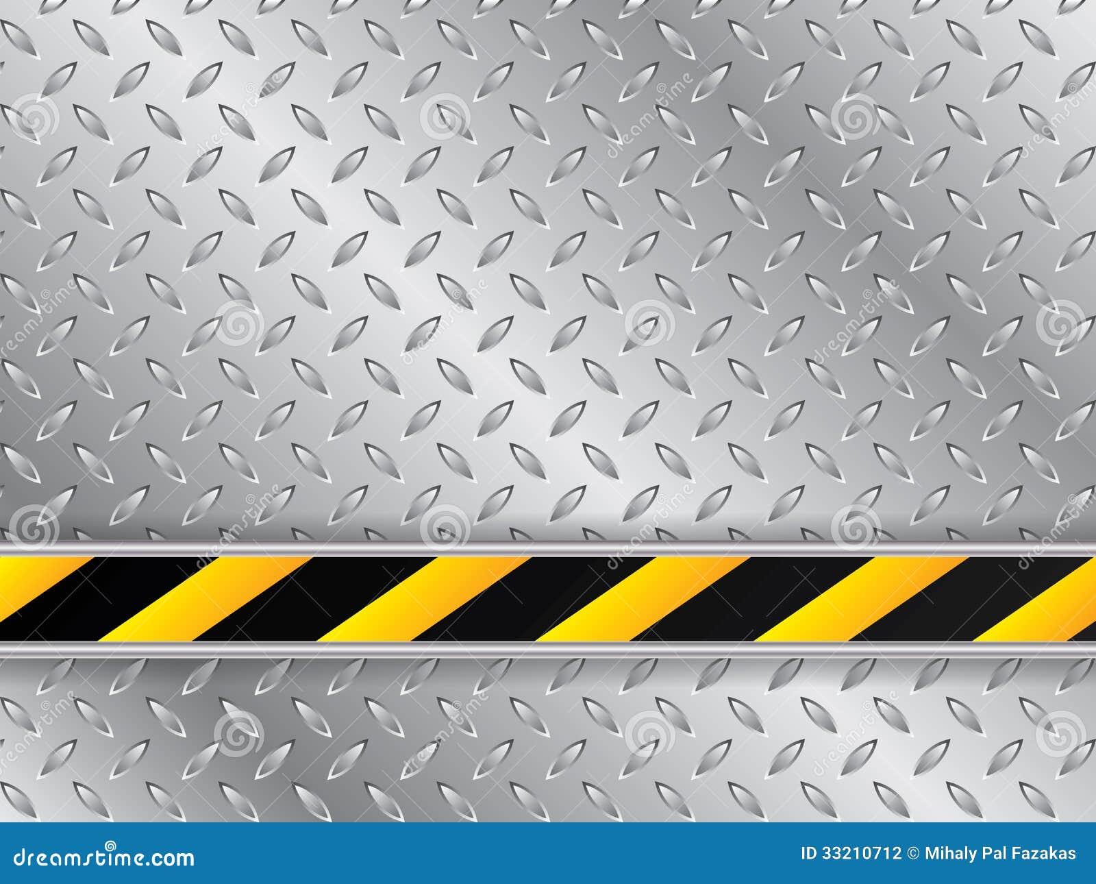 Fundo metálico da placa com linha industrial listrada