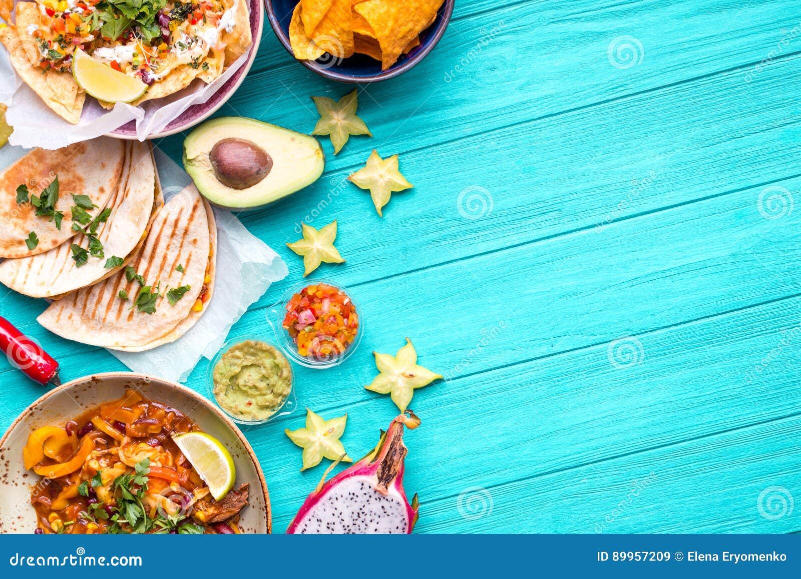Fundo mexicano do alimento