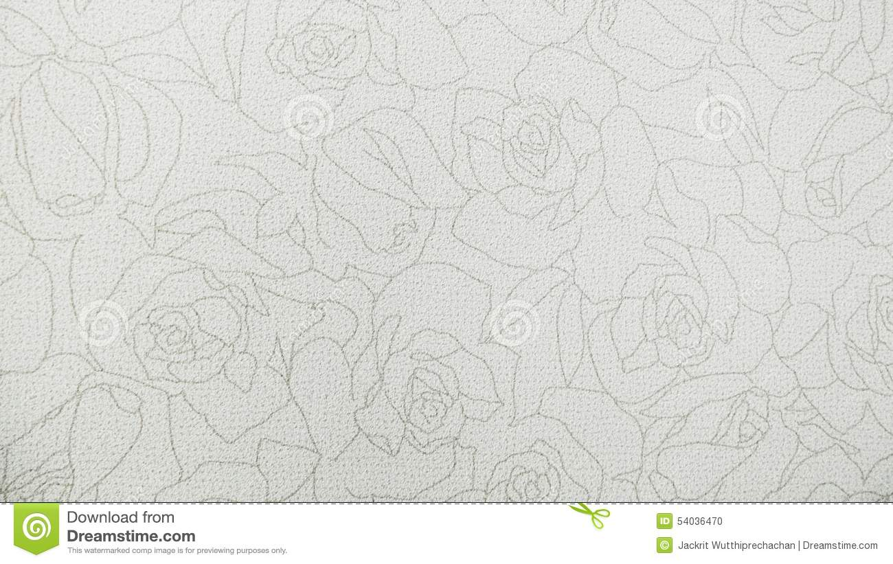 Fundo moderno de Rose Floral Pattern White Fabric