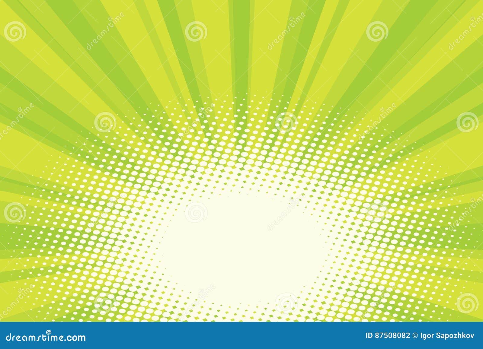 Fundo natural verde do pop art do nascer do sol do eco