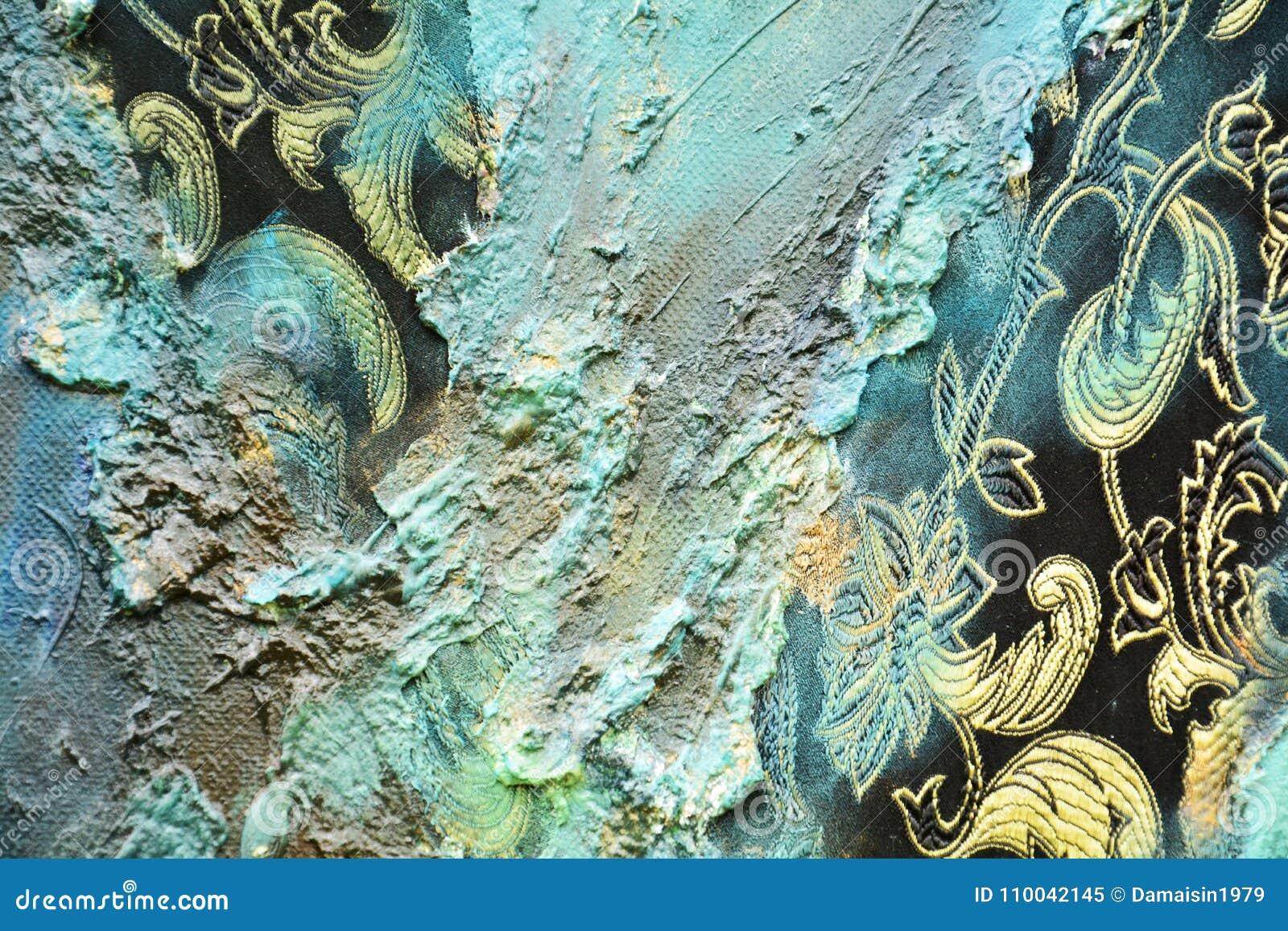 Fundo orgânico do hypnotic de matéria têxtil da pintura abstrata