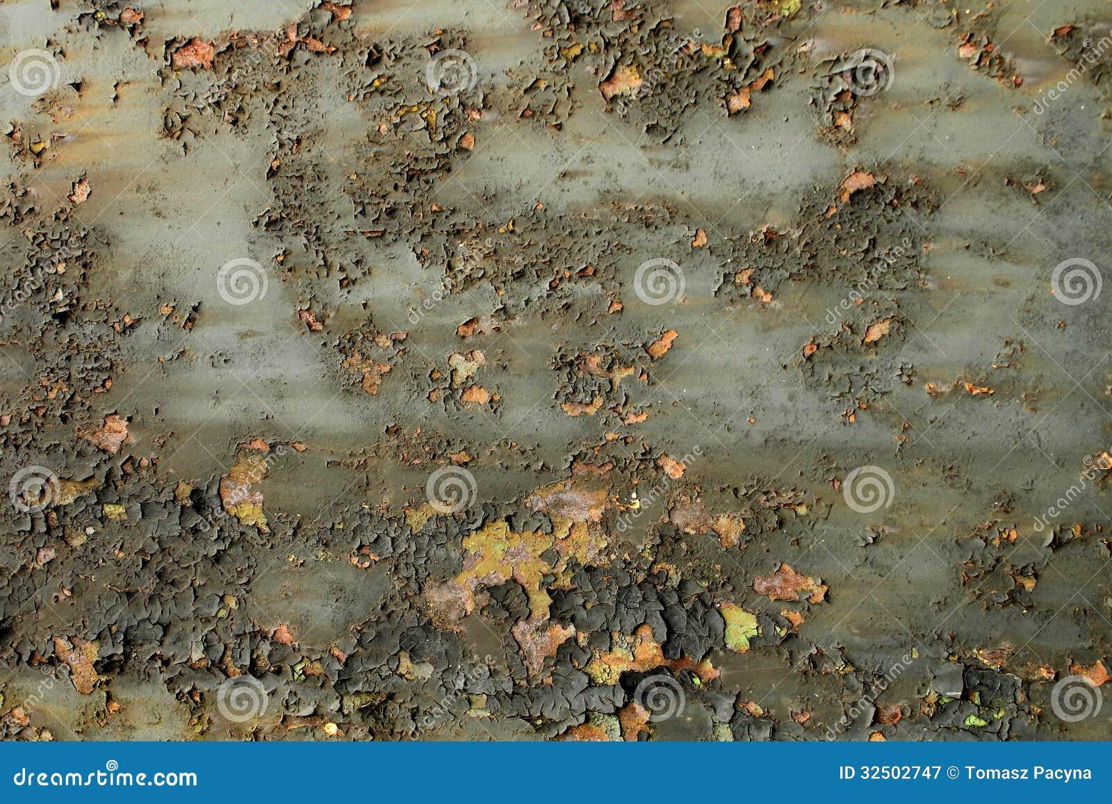 Fundo oxidado lascado do metal da pintura