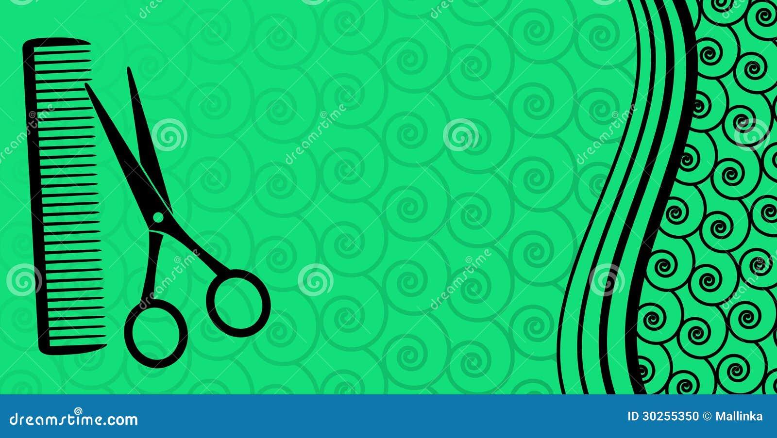 Famosos Tesouras Verdes Símbolo Do Salão De Beleza E ícone Do Logotipo  UU36