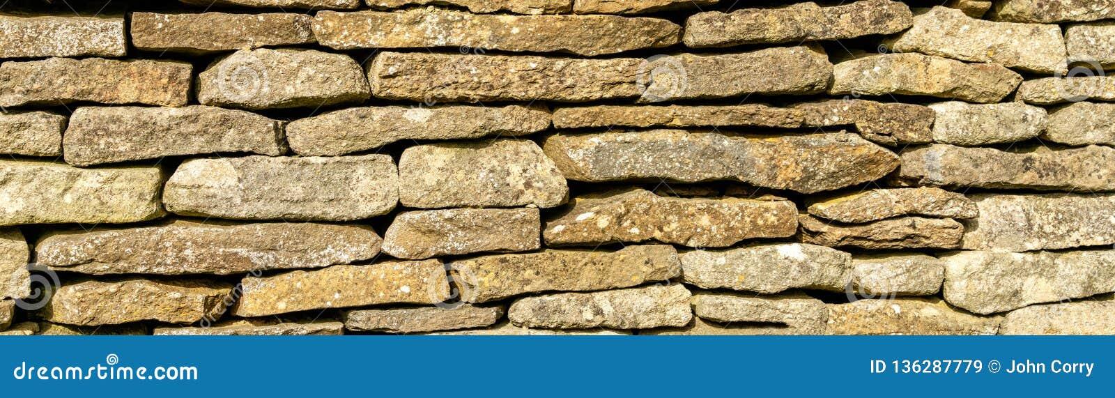 Fundo - parede drystone tradicional do Cotswolds