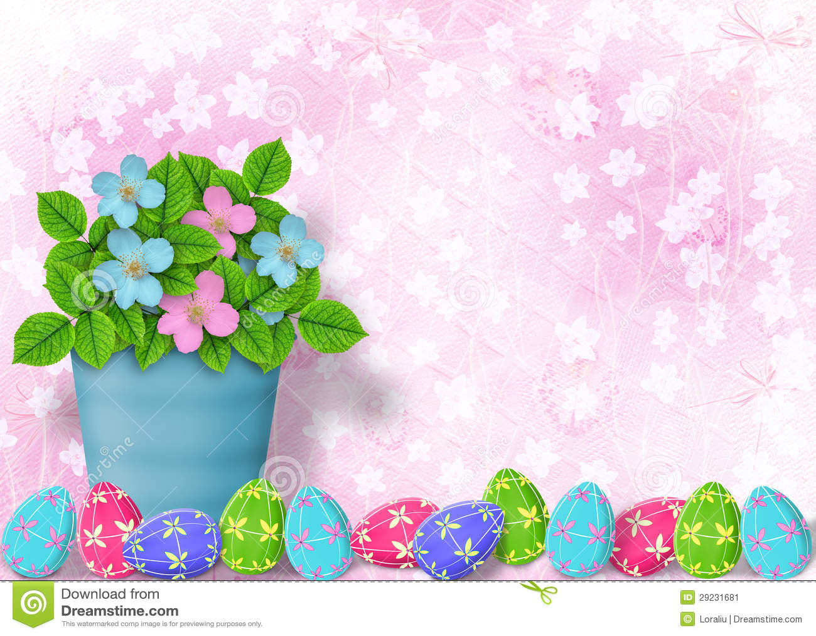 Download Fundo Pastel Com Ovos Coloridos Ilustração Stock - Ilustração de folha, multicolored: 29231681