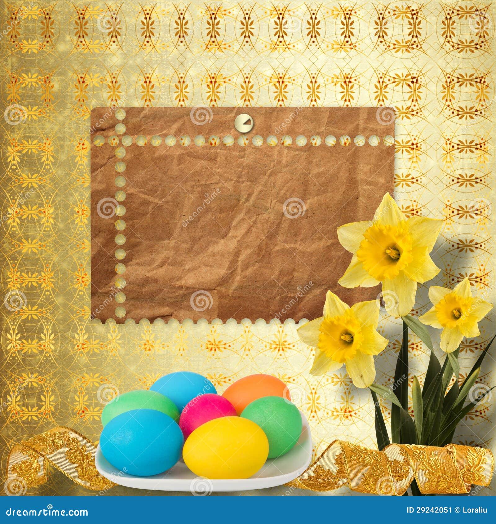 Download Fundo Pastel Com Ovos E O Narciso Coloridos Imagem de Stock - Imagem de invitation, filial: 29242051