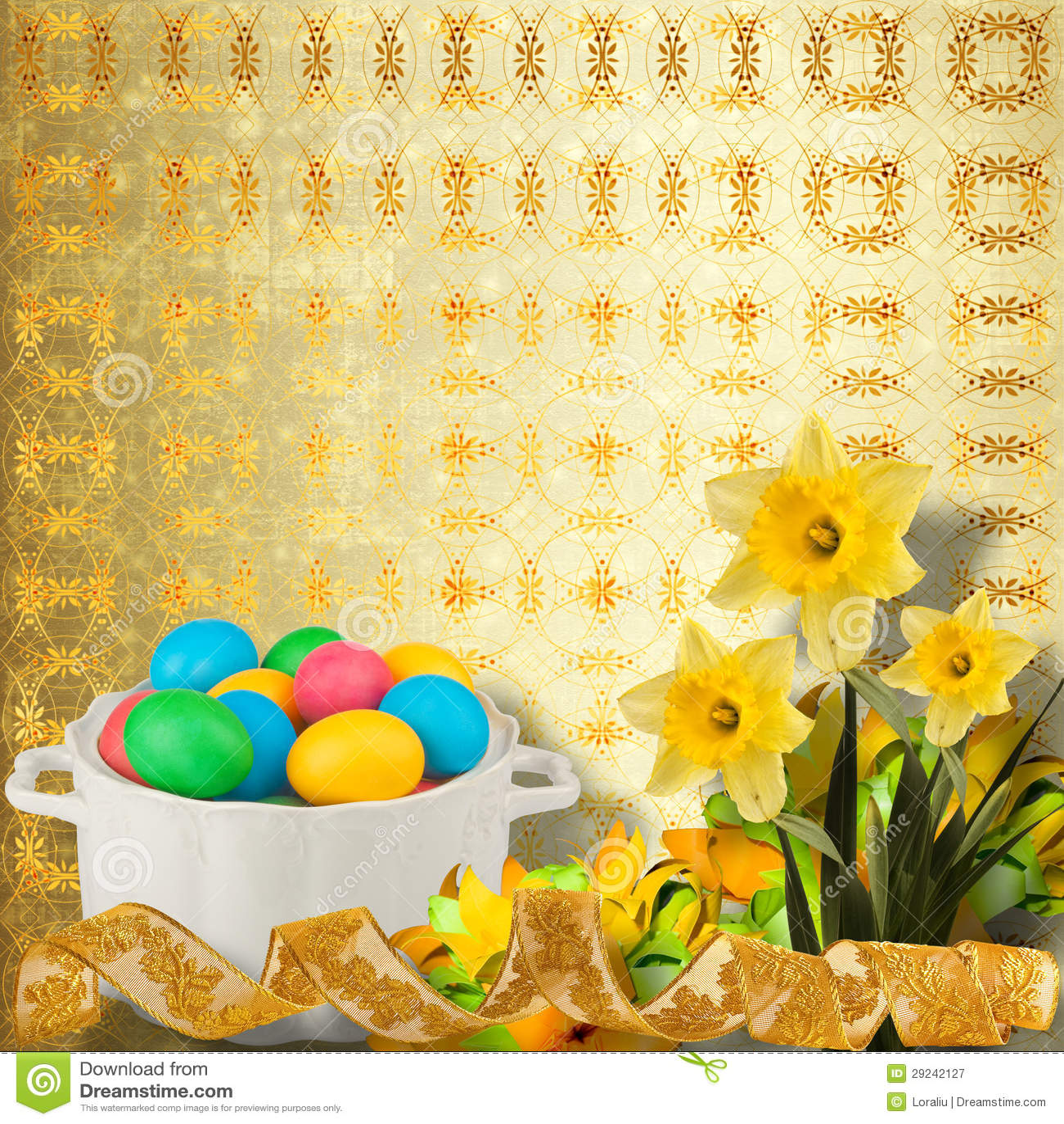 Download Fundo Pastel Com Ovos E O Narciso Coloridos Imagem de Stock - Imagem de filial, felicidade: 29242127